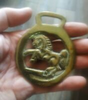 Vintage Brass Horse Saddle Harness Medallion Ornament.