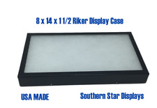 8 X 14 X 1 12 Riker Display Case Box For Collectibles Arrowheads Jewelry Ampmore