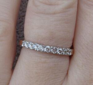 Beautiful Diamonds 9k Yellow Gold Ring or stacking band