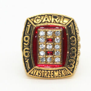 Carl Yastrzemski Hitter Boston Red Sox All-time leader Championship Ring