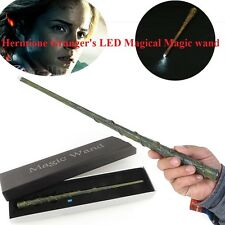 2015 Harry Potter Hogwarts Hermione LED Light UP Replica Magic Wand In Box