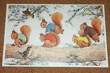 Vintage Postcard: Squirrels, Leap Frog, Artist Margaret Tempest