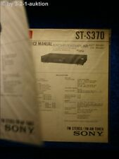 Sony Service Manual ST S370 Tuner (#0571)