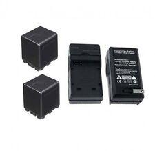 TWO 2 Batteries VW-VBK360 + Charger for Panasonic HDC-HS60PC HDC-HS80 HDC-HS80K