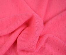 Stoff Jersey Strick Gestrickt Neon Pink Rosa Grob Viskose/Polyester 13€/m