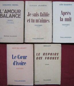 LOT 5 livres TALLANDIER - MERREL - JAUNIERE - DARTEY - Max du VEUZIT - DELLY