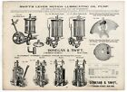 1890s SWIFTS LEVER MOTION  STEAM  GAS ENGINE OILERS PUMPS DONEGAN & SWIFT NY