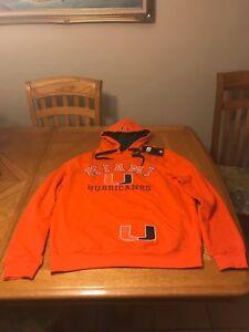 UM Hoodie University of Miami Hurricanes Sweater Jacket Shirt M, L, XL and 2XL
