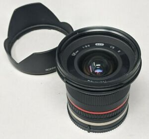 Rokinon 12mm f2.0 High Speed Wide Angle Lens for Sony E Mount APS-C Cameras