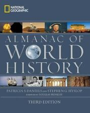 National Geographic Almanac of World History by Patricia S. Daniels Hardcover Bo