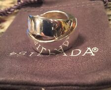 Silpada R3056 Band Together Sterling Silver Ring Size 8