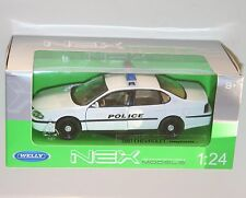 "Welly - 2001 chevrolet impala ""police"" - die cast model scale 1:24"