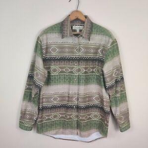 Cabelas Women Aztec Tribal Flannel Southwest Shirt Button Up M Medium
