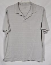 CROFT & BARROW PERFORMANCE COOL & DRY Mens Gray Polo Shirt Large Short Sleeves