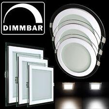 LED Panel Einbaustrahler Leuchte Glas Dimmbar Einbauspot Deckenleuchte DHL