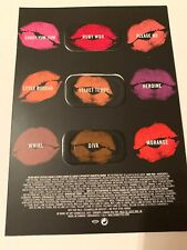 MAC Lips Retro Matte Lipstick Shades Sample Card Ruby Woo, Velvet Teddy, Diva
