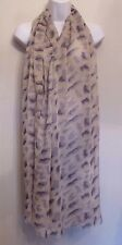 Red Herring new camel oversized animal print scarf
