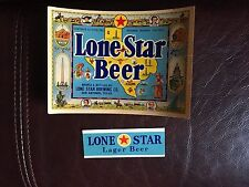 Lone Star Beer Bottle Label and Texas 1940's