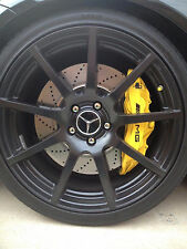 HI TEMP Set of 4 A.M.G Decal sticker vinyl caliper brake custom size color black