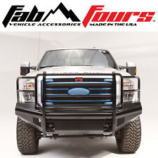 Fab Fours Full Guard Black Steel Ranch Front Bumper For 2008-2010 Ford SuperDuty