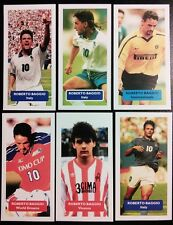 Série complète de 6 Roberto Baggio Score UK Football Trade Cards juventus inter