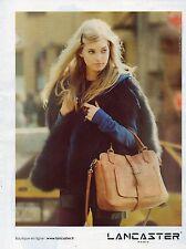 Publicité Advertising 2011 LANCASTER sac à main collection pret à porter mode