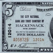 1929 $20 NATIONAL BANK NOTE ✪ CITY NB&TC OF HACKENSACK ✪ NJ 12014 UNC ◢TRUSTED◣