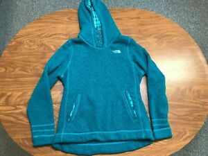 WOMENS USED LIGHTLY WORN THE NORTH FACE GREEN PULLOVER HOODIE SIZE XL