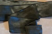 """2"""" RAYON MOIRE' RIBBON - MADE IN GERMANY - GRAPHITE - GREY - ELEPHANT"""