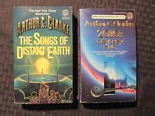 1984/87 ARTHUR C CLARKE Paperback LOT of 2 Songs Distant Earth 2010 Two FN 6.0
