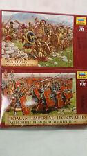 ZVEZDA 1/72 SPARTANS V-IVB.C.  &  ROMAN IMPERIAL LEGIONARIES I B.C. II A.D.