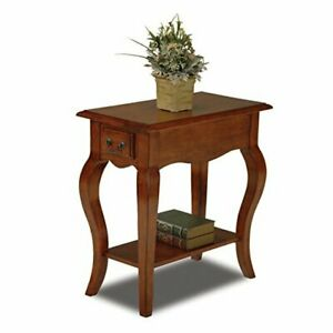 Leick Chair Side Brown Cherry Finish End Table