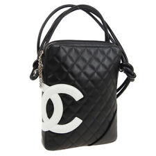 CHANEL Cambon Line Quilted CC Cross Body Bag 9794928 Purse Black White A46546a