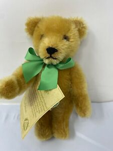 """HERMANN Mohair Jointed Teddy Bear w/ Tag COBURG Germany Ploschtiere 7"""""""