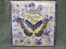 Butterfly Herbal Tea 1831 Blue Canvas Flowers Painting Wall Decor