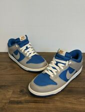 Nike Dunk Low - Team Royal / Medium Grey-Metallic Gold | 318019-400 | US10 UK9