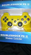 PS3 DUAL SHOCK WIRELESS CONTROLLER, black, yellow, white, or pink