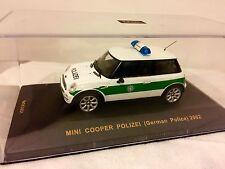 1:43 IXO BMW MINI COOPER POLIZEI 2002 German Police rare old  Limited Edition