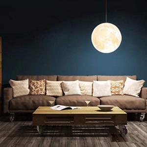 OSALADI Moon Printed Light Ceiling Ball Shape Decorative Creative Light Pendant