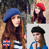 Plain Beret Hat 100% Wool French Beret Winter Autumn Women | Girls Fashion Hats