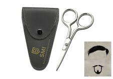 SMI -  9,5 cm Haarschere Bart Schnurrbartschere Augenbraue für Männer mit Etui
