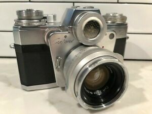 Zeiss Ikon Contarex Bullseye Camera with leather case Fully Tested