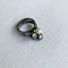 Authentic Chanel Triple Pearl Ring