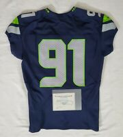 Seattle Seahawks Blank #91 Team Issued Home Jersey with COA - SA 09322