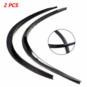 2pcs 73cm Rubber Car Fender Wheel Eyebrow Protector Strips Carbon Fiber Sticker