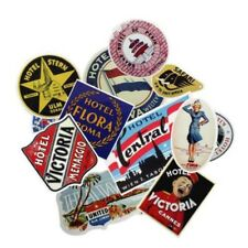 Sale 55Pcs Not Repeat Retro Hotel Logo Stickers for Luggage Laptop Skateboard
