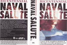 NAVAL SALUTE MINT SEALED~VIDEO  VHS PAL~A RARE FIND