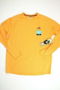Mens Mossy Oak Orange Moisture Wicking Long Sleeve Thermal T Shirt NEW! NWT