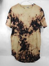 ENTITY TIE DIE BLACK AND YELLOW T-SHIRT *SIZE M