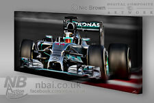 Lewis Hamilton 2014 F1 World Chamapion 30x15 Canvas Mercedes F1